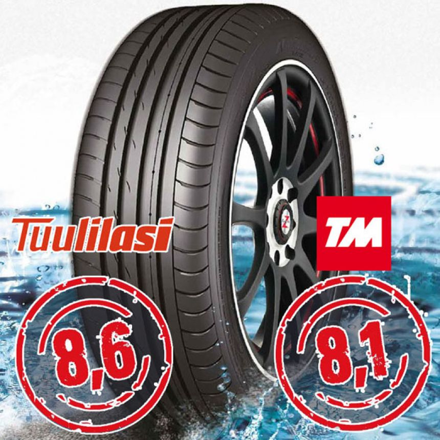 Sportnex AS-2+ TM- ja Tuulilasi-testimenestys 245/45-18 Y
